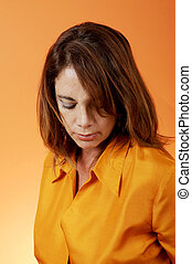 Mature HIspanic Woman - Pensive woman in thought