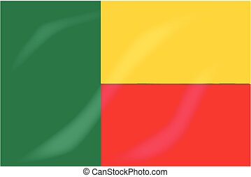 Benin Flag - The flag of the African country of Benin