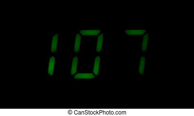 Digital led counter from one