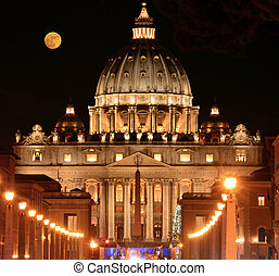 The Basilica of St Peter in the Vatican - Rome - Italy -...