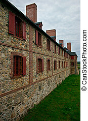 18th Century French Colony Building - This is the wall of an...