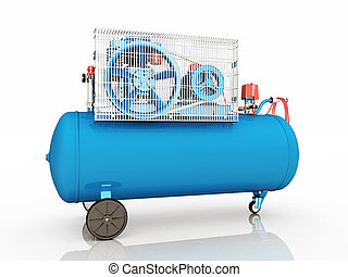 Air Compressor - Computer generated 3D illustration with an...