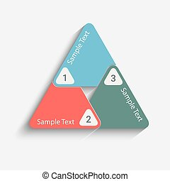 triangle back - Modern vector info graphic triangle. Eps10...
