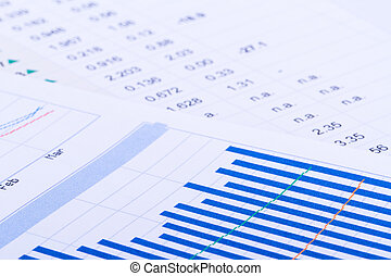 Financial Data and Bar Chart Graphs - Financial data and bar...