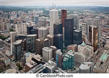 Toronto City Core - This is a view of Toronto\'s city core.