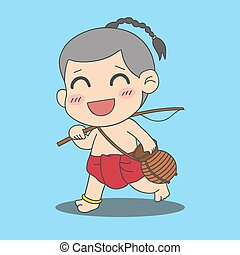 boy with fishing rod