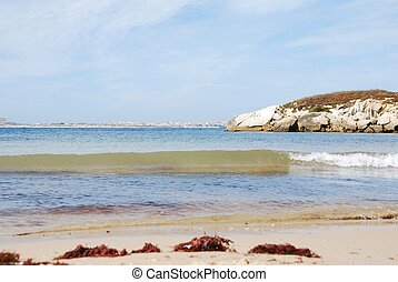 Beautiful Baleal beach at Peniche, Portugal - stunning and...