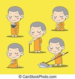 monk cartoon