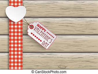 Towel Wood Hearts Price Sticker - White paper heart with...