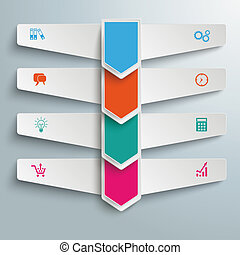 4 Step Arrows Double Banners - Arrows with wings on the gray...