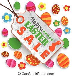 Easter Price Sticker White - Infographic with price sticker...