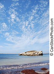 Huge rock at Baleal beach (dramatic cloudscape) - stunning...