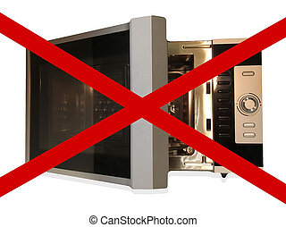 No microwave, sign - No microwave sign isolated on white...