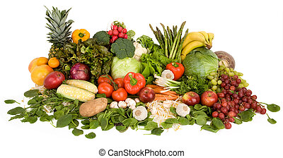 Vibrant Produce - This is a close-up of vegetables and...