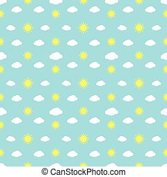 Weather Signs Seamless Pattern