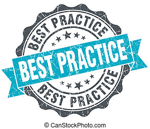 best practice vintage turquoise seal isolated on white