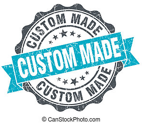 custom made vintage turquoise seal isolated on white