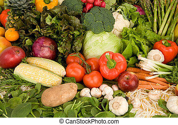 Vibrant Produce Closeup - This is a close-up of vegetables...