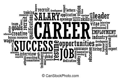 job career opportunity openings word cloud vector...