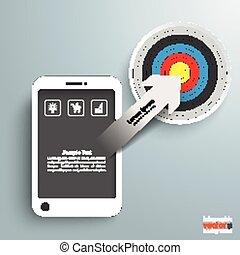 Smartphone Arrow Target