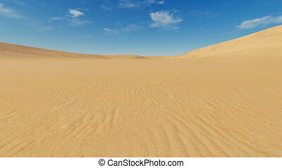 Motion to horizon through sandhills - Simple desert...