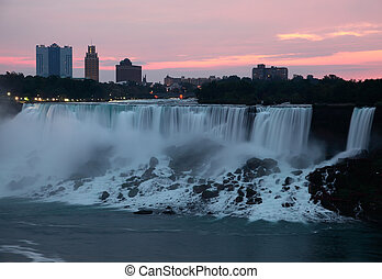 Niagara Falls USA Before Sunrise
