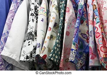 Multicolored Nurse\'s Uniforms - Several multicolored...