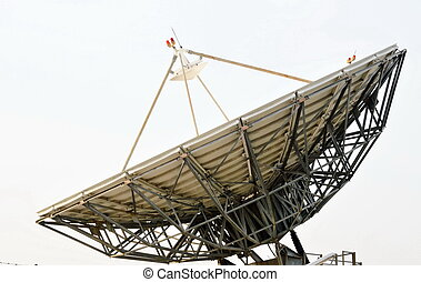 big satellite dish - a  big satellite dish