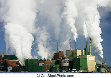 Paper Mill 2 - This is a paper mill producing a lot of smoke