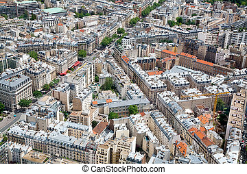 Elevated View of Paris, France