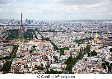 Elevated View of Paris, France - This is an elevated view of...