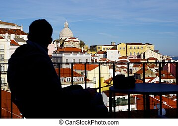 Alfama downtown in Lisbon, Portugal.