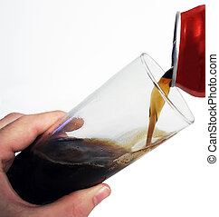 Pouring Cola - The action of pouring cola from a can to a...