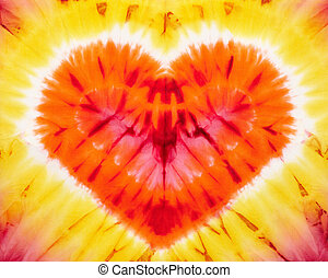 tie dye - Heart tie dye Fabric background