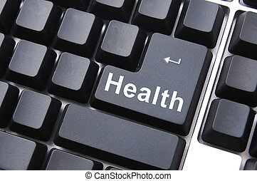 healthy lifestyle shown by health computer button