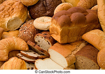 Various Types of Bread - This is a close-up of various types...