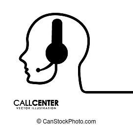 call center design, vector illustration eps10 graphic