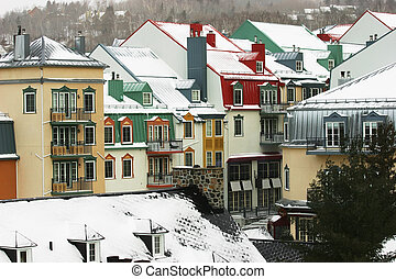 Village in the Mountain - This is a ski resort in...