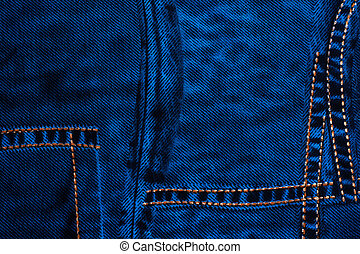 fabric - texture background with blue denim fabric with...