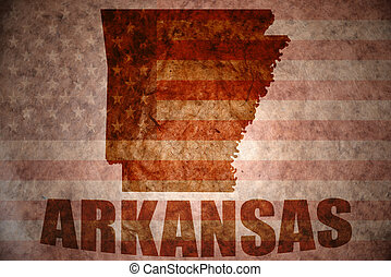 Vintage arkansas map - arkansas map on a vintage american...
