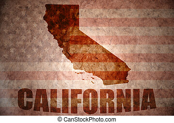 Vintage california map - california map on a vintage...