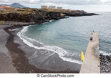 View of the beach at Callao Salveje Tenerife