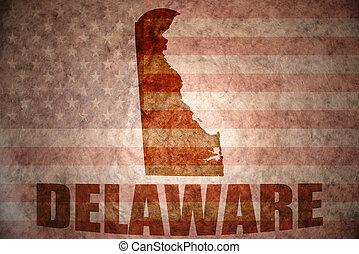 Vintage delaware map - delaware map on a vintage american...