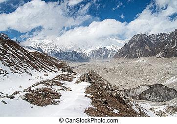 Himalayas. Ngozumba Glacier , Nepal - Himalayas. Ngozumba...
