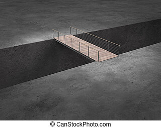 bridge - conceptual image concerning risk, danger, credits...