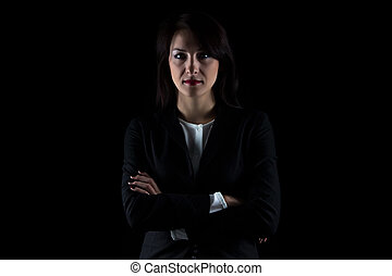 Photo of brunette business woman