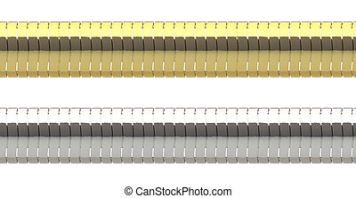 Seamless thick chains - Seamless thick golden and silver...
