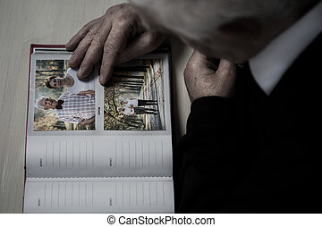 Senior recollect memories of his wife - Widowed senior...