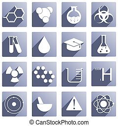 16 different chemical icons