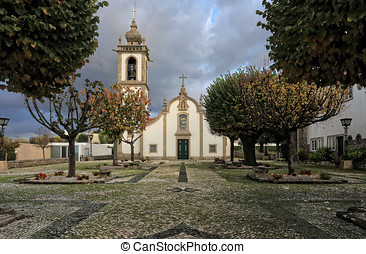 Rural church - Santa Marinha catholic church, Forjaes,...